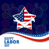 Happy labor day with firework background. Happy labor day with firework background Royalty Free Stock Photography