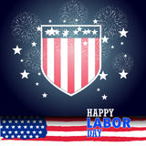 Happy labor day with firework background. Happy labor day with firework background Stock Photography