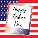 Happy Labor Day Flag. Vector illustration of a red white and blue flag with stars Royalty Free Stock Image