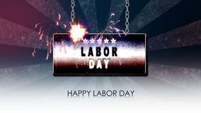 Happy labor day stock video