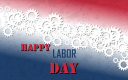 Happy Labor Day with Gears Banner Stock Photos