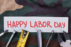 Happy Labor Day greeting card. Royalty Free Stock Image