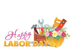 Happy Labor day greeting card royalty free illustration