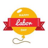 Happy Labor day greeting emblem. Happy Labor day emblem isolated vector illustration on white background. 1 may world professional holiday event label, greeting Royalty Free Stock Photos
