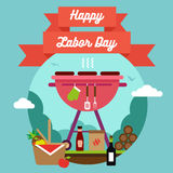 Happy Labor Day. Grill and  Barbecue Royalty Free Stock Photo