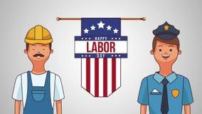 Happy labor day HD animation