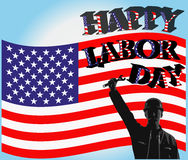 Happy labor day. This is illustration of a poster of happy labor day stock illustration