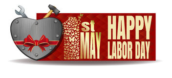 Happy Labor Day. International Workers Day card Stock Image