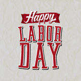 Happy Labor Day Label Stock Images