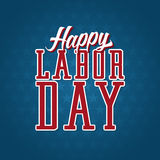 Happy Labor Day Label Stock Photo