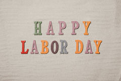 Free Happy Labor Day On The Sandy Beach Background. Happy Labor Day W Stock Photo - 90098700