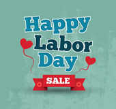 Happy labor day poster Royalty Free Stock Photography