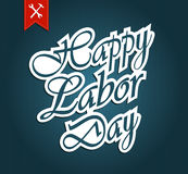 Happy Labor Day with ribbon Stock Photos