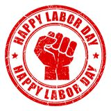 Happy labor day rubber stamp Royalty Free Stock Photo