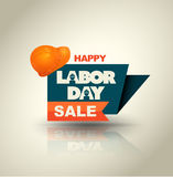 Happy Labor Day Sale banner with helmet. Stock Image