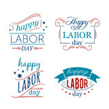 Happy Labor day. Set of badges and labels. Stock Images