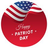 Patriot Day sticker or banner. 11 September. Waving flag. Vector illustration. Patriot Day sticker or banner. 11 September. Waving flag Stock Photography