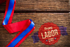 Composite image of happy labor day text in banner Royalty Free Stock Image