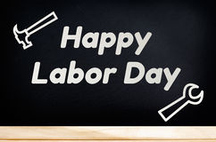 Happy Labor Day and tool Royalty Free Stock Image