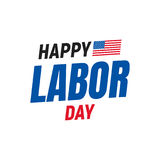 Happy Labor Day. Typography logo for USA Labor Day. Happy Labor Day USA 4th of September Royalty Free Stock Photography