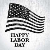 Happy labor day us flag Royalty Free Stock Photography