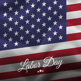 Happy Labor Day. USA flag background. flag. Vector. Royalty Free Stock Photography