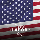 Happy Labor Day. USA flag background. Waving flag. Vector. Royalty Free Stock Image