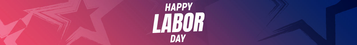 Happy Labor Day USA. USA Labor Day background. Banner with stars and typography. 4th of September USA Labor Day holiday. Banner Stock Photography