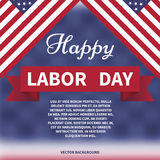 Happy labor day Vector. Background royalty free illustration