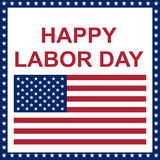 Happy Labor Day. Stock Image