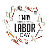 Happy Labor Day. Vector illustration of a background for Happy Labor Day Stock Photos