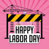 Happy Labor Day. Vector illustration of a background for Happy Labor Day Royalty Free Stock Photo