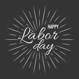 Happy Labor Day! vector illustration on black background. Happy Labor Day! Light grey vector illustration on black background Stock Illustration
