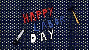 Happy Labor Day. Vector illustration cartoon style Stock Image