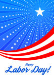 Happy labor day. Vector illustration with ribbon and stars Royalty Free Stock Photos