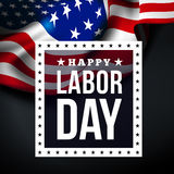 Happy labor day. Vector illustration with USA flag royalty free illustration