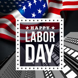 Happy labor day. Vector illustration with USA flag Royalty Free Stock Photo