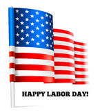 Happy labor day. Vector illustration with USA flag Stock Photos
