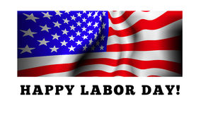 Happy labor day. Vector illustration with USA flag Stock Image