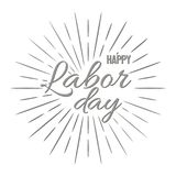 Happy Labor Day! vector illustration on white background. Happy Labor Day! Grey vector illustration on white background Royalty Free Illustration