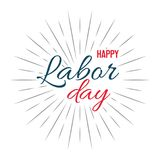 Happy Labor Day! vector illustration on white background. Happy Labor Day! vector lettering illustration on white background stock illustration
