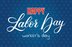 Happy Labor day vector lettering Stock Image
