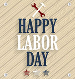 Happy Labor Day. Wooden background Royalty Free Stock Images