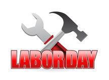 Happy labor day workers tools sign Royalty Free Stock Images