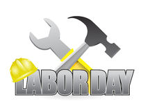 Happy labor day workers tools sign Stock Photography
