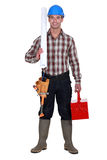 Happy laborer Royalty Free Stock Image