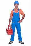 Happy laborer Royalty Free Stock Photography
