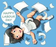 Happy labour day. royalty free illustration
