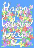 Happy labour day card royalty free illustration