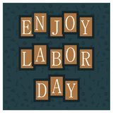 Happy Labour day card with typography vector. This Vector EPS 10 illustration is best for print media, web design, application design user interface and stock illustration